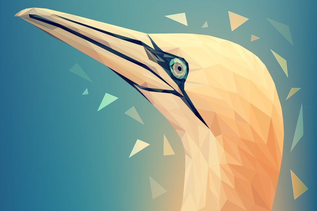 Spectacular designs of animals in polygonal style 4